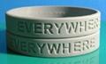 12mm凹字硅膠手環,硅膠手腕帶, 硅膠手鐲 5