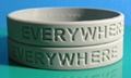 12mm Solid Color Debossed Silicone Wristbands  5