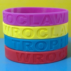 12mm Solid Color Debossed Silicone Wristbands