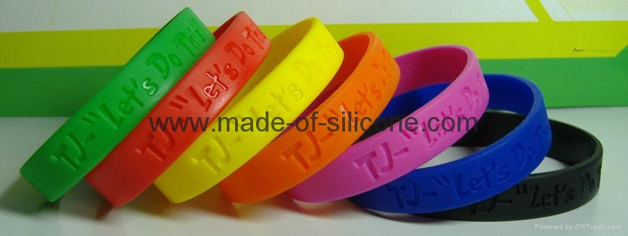 12mm凹字硅胶手环,硅胶手腕带, 硅胶手镯 6