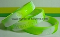 Swirled Color Debossed Silicone Wristbands 4