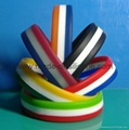 Segmented 3 Colors Silicone Wristband