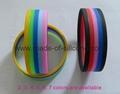 Segmented 5 Colors Silicone Wristbands