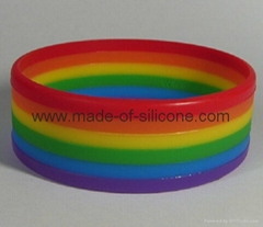 Segmented 6 Colors Silicone Wristbands
