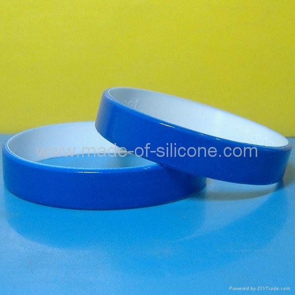 12mm Color coated silicone wristbands  4