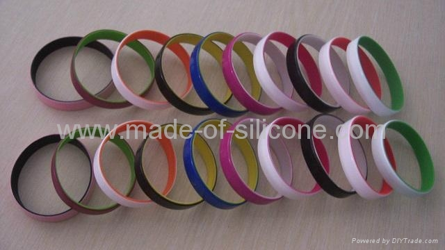 12mm Color coated silicone wristbands  2