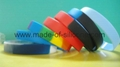 12mm Segmented Color Blank Silicone Wristbands