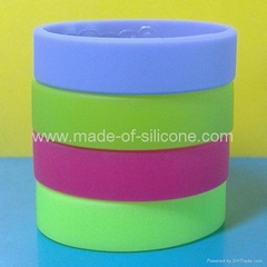 20mm Blank Silicone Wristbands