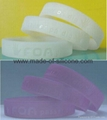 12mm Ultraviolet Ray Sensor Color Filled Silicone Wristbands