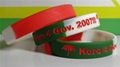 12mm Segmented  Color Debossed Ink Filled Silicone Wristbands 4