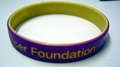 12mm 2 Colors Debossed Silicone Wristbands 3