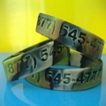 Camouflage Color Deboosed Silicone Wristband