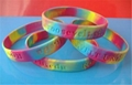 12mm  Ink  Filled Rainbow Silicone Wristbands 4