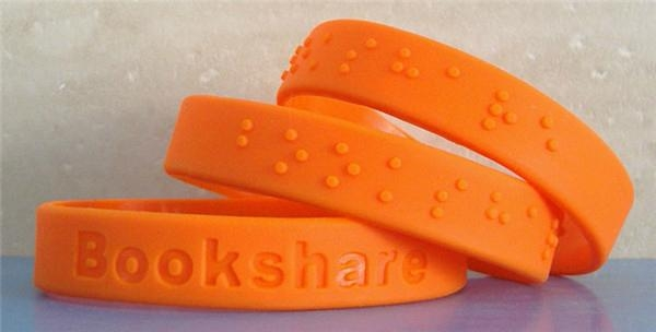 12 mm Braille Silicone Wristbands  3