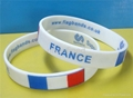 Natiional Flag Silicone Wristbands 2