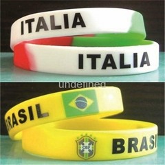 Natiional Flag Silicone Wristbands