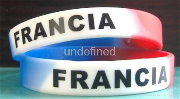 Natiional Flag Silicone Wristbands 5