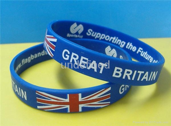 Natiional Flag Silicone Wristbands 6
