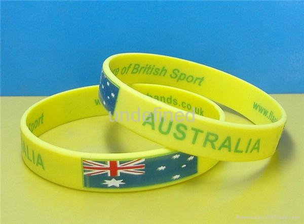 Natiional Flag Silicone Wristbands 8