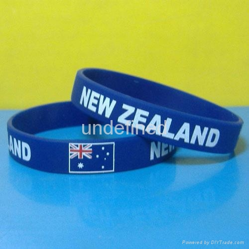 Football Team Silicone Wristbands 7