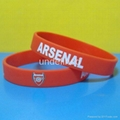 Football Team Silicone Wristbands 9