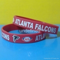 Football Team Silicone Wristbands 11