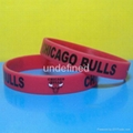 Football Team Silicone Wristbands 17