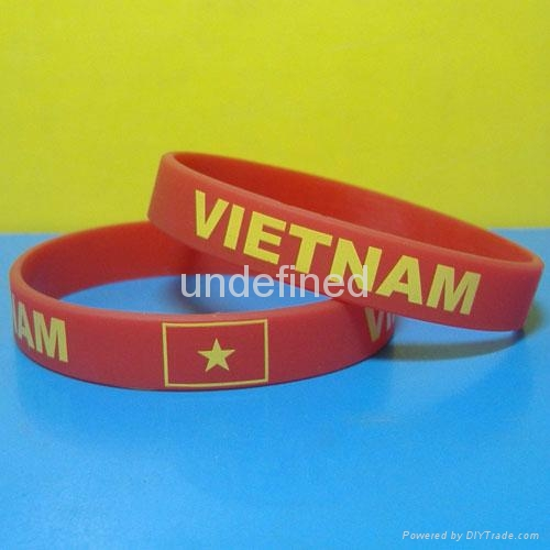Football Team Silicone Wristbands 19