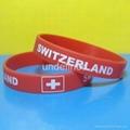 Football Team Silicone Wristbands 8