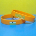 Football Team Silicone Wristbands 9
