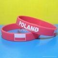Football Team Silicone Wristbands 20