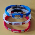 FBM007 Silicone Wristbands with metal