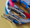 FBM007 Silicone Wristbands with metal clips 2