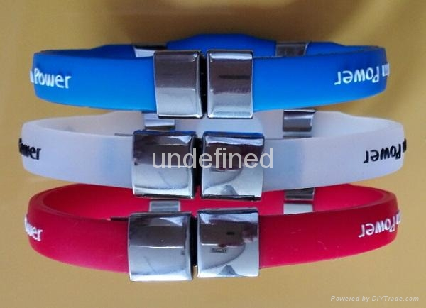 FBM007 Silicone Wristbands with metal clips 3