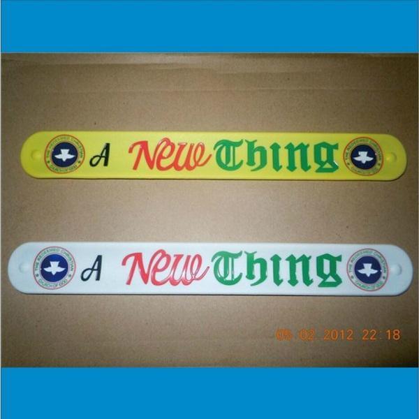 Deboosed Slap Silicone Wristband /Cramp Wristband 1