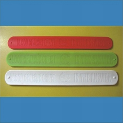 Deboosed Slap Silicone Wristband /Cramp Wristband