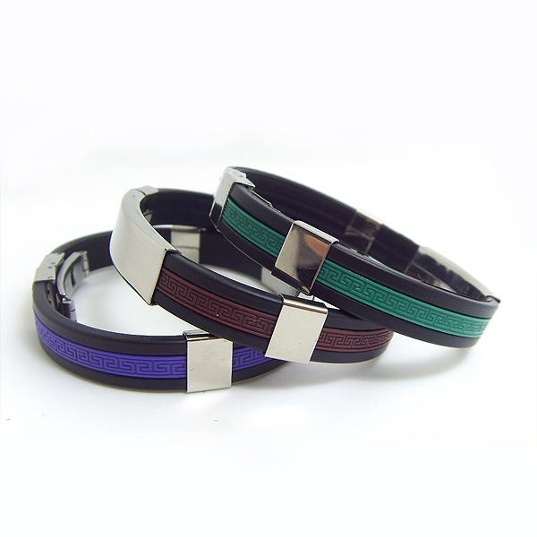 JY003 Steel Silicone Wristbands  2