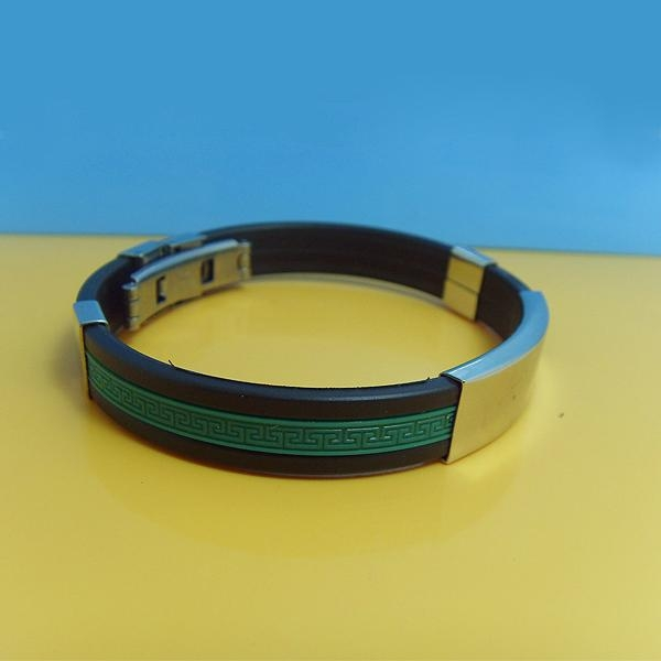 JY003 Steel Silicone Wristbands  1