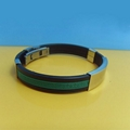 JY003 Steel Silicone Wristbands