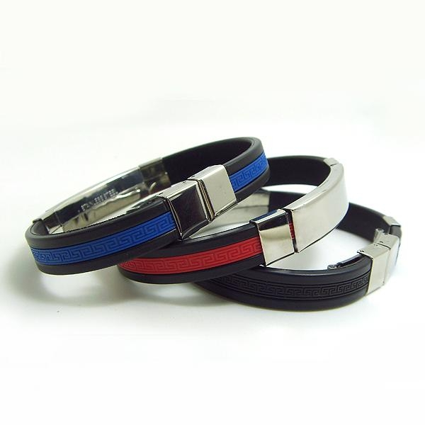 JY003 Steel Silicone Wristbands  4