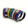 JY004 Steel Silicone Wristbands  4