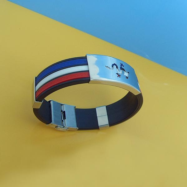 JY005 Steel Silicone Wristbands  1