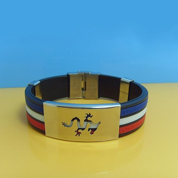 JY005 Steel Silicone Wristbands  2