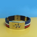 JY005 Steel Silicone Wristbands