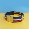 JY005 Steel Silicone Wristbands  3