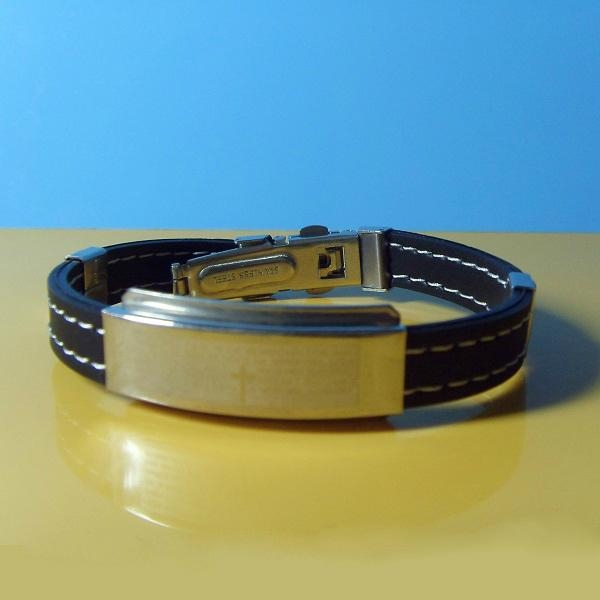 JY007 Steel Silicone Wristbands  1