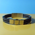 JY007 Steel Silicone Wristbands  3