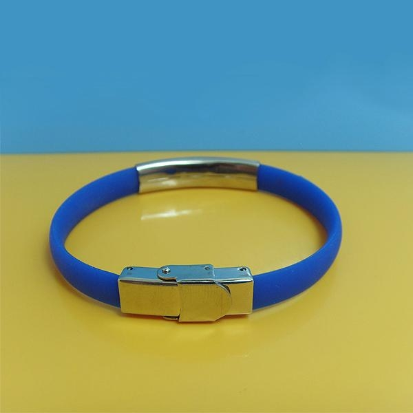 JY008 Steel Silicone Wristbands  1