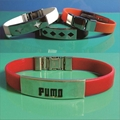 FB003 Steel Silicone Wristbands