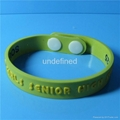 12mm Soft  PVC Rubber Bracelets